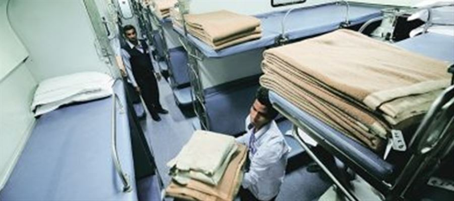 Railway suspects passengers for missing Bed sheets & Towels in A/c Coaches