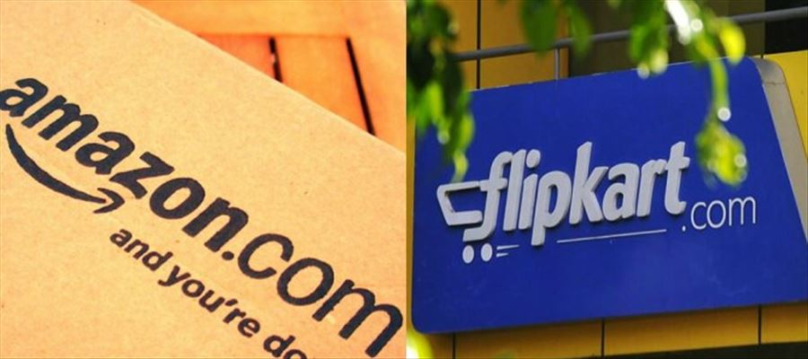 Flipkart captures market share of 51%, followed by Amazon at 32%