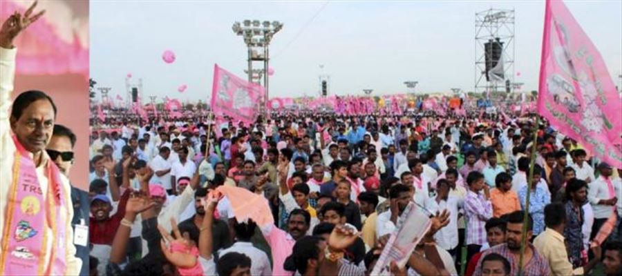 KCR launches TRS election campaign with Public Meeting on Friday
