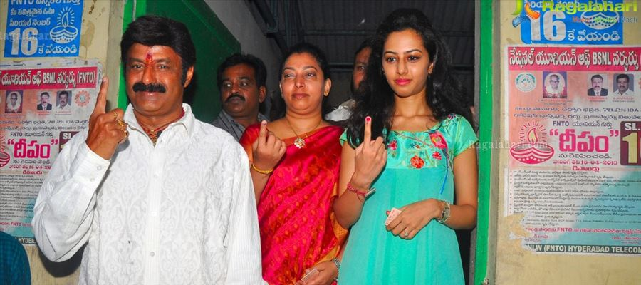 Celebrities casts their Vote in Hyderabad with more Enthusiasm