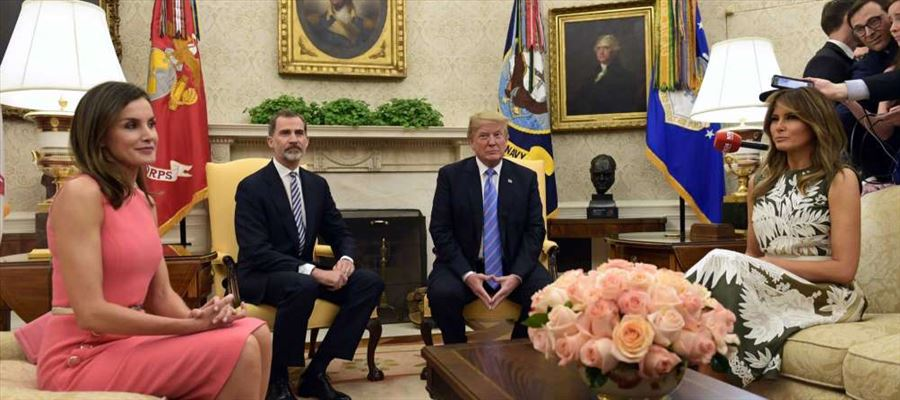 Spanish Royal Couple anchored by Trump