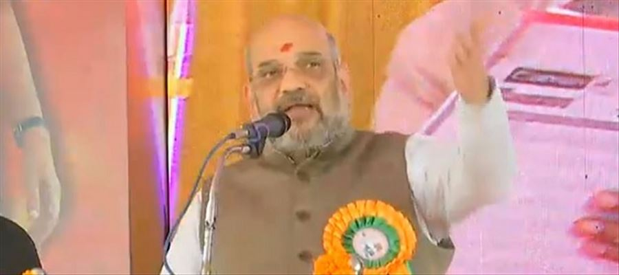 Amit Shah falls from stage!