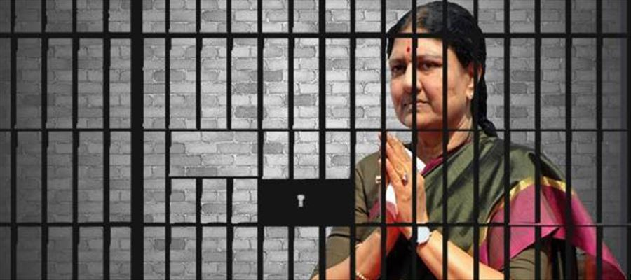 Jailed Sasikala applied for 15 days Parole to meet her husband in hospital
