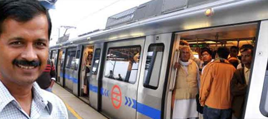 Arvind Kejriwal's aim is to take Metro and run efficiently