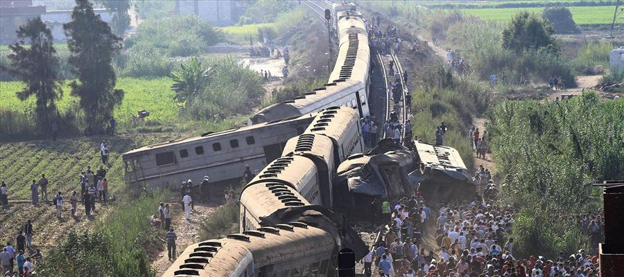 44 killed, 180 injured at Egypt Train Collision