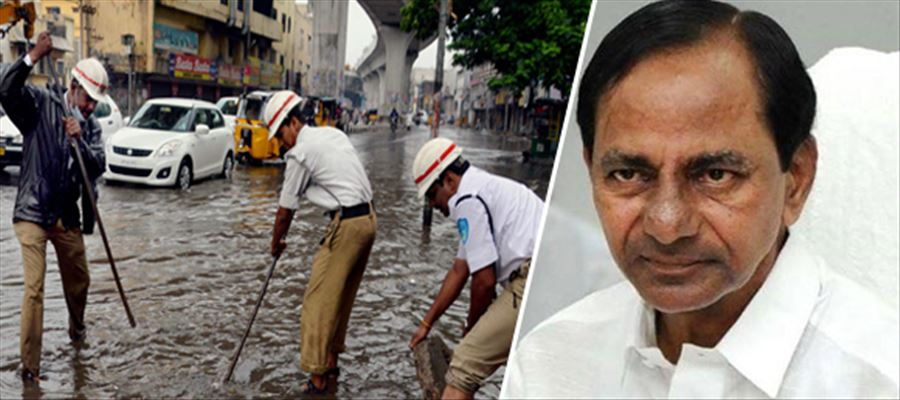 KCR orders Officers to be alert during heavy Rain