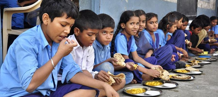 Extending mid-day meal scheme to junior colleges to around 2 lakh students