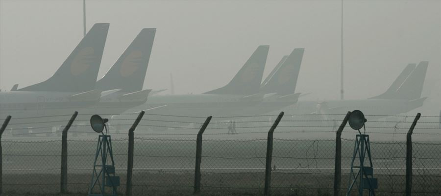 Flight operations hit by fog and low visibility in Delhi Airport