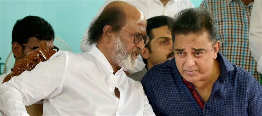 Rajinikanth and Kamal Hassan dropped adequate hints of a political plunge