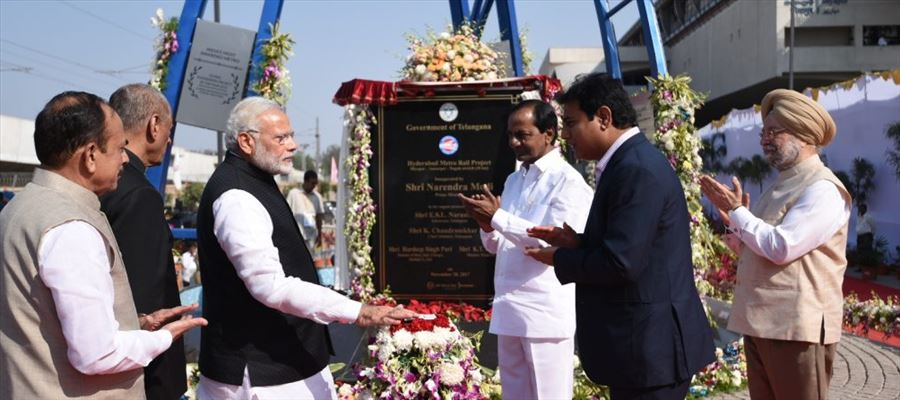 Telangana CM KCR's son KTR demonstrated Metro Project to PM Modi
