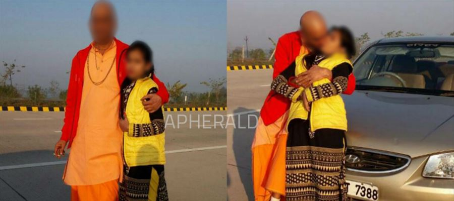 Eeww !! Another FAKE BABA spotted KISSING a YOUNG GIRL in the Middle of the Road forcibly