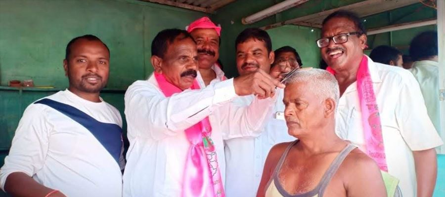 TRS Man campaigns by washing Baby's Bump