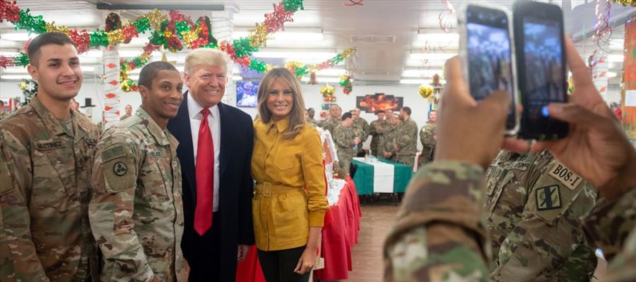 Trump as US President visits Iraq for the First time
