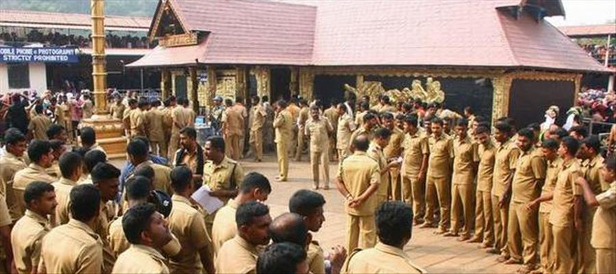 Tight security made by Police in Sabarimala Temple