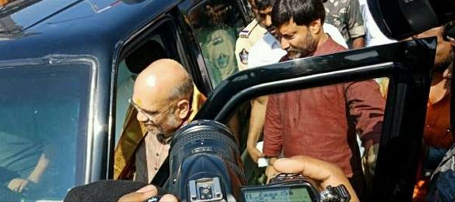 Attack on BJP president Amit Shahs convoy near Tirupati attracted widespread criticism