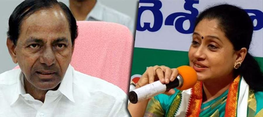 Vijayashanthi questions Why TRS shows fake statements