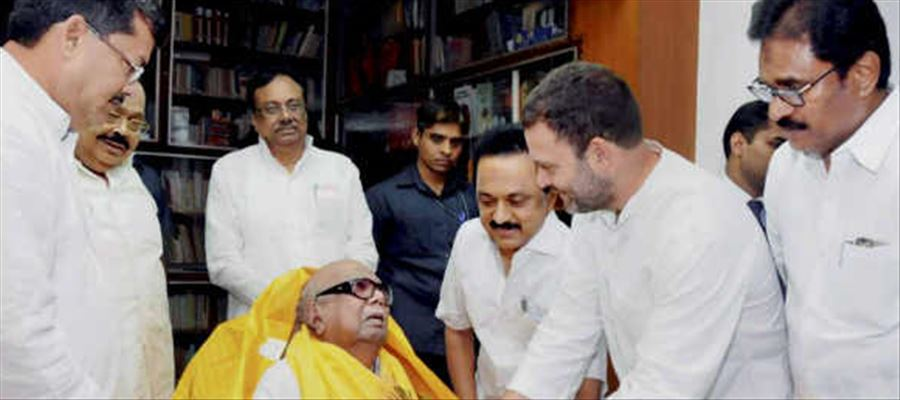 Rahul's wishes to Karunanidhi!
