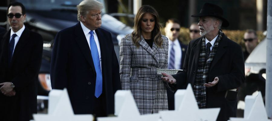 Donald Trump visited Pittsburgh Synagogue where many were gunned down