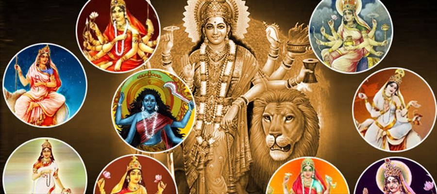 Worshiping Durga on Nine days in different form