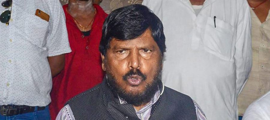 Ramdas Athawale slapped by 30 old man at a public event in Maharashtra