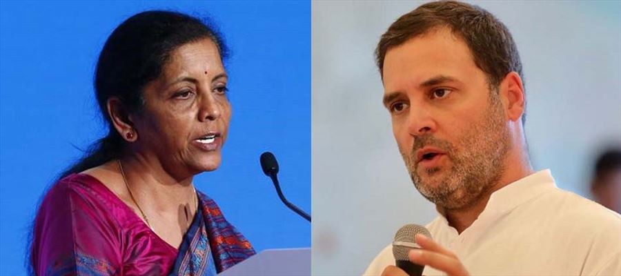 Nirmala Sitharaman responding to questions on Gandhi's comments over Rafale issue