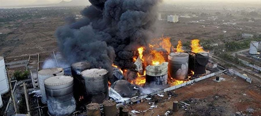 Major fire accident broke out in Vizag Steel Plant