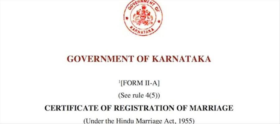 To Obtain Marriage Certificate In Karnataka