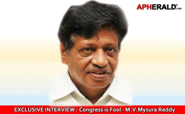 EXCLUSIVE: Congress is a FOOL - M.V. Mysoora  Reddy Interview by APHerald.com