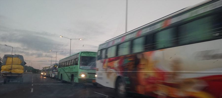 AIADMK Cadres used Schools and Colleges Buses for MGR Centenary Celebrations