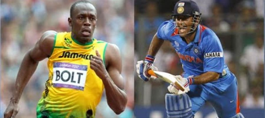 MS Dhoni is running close to Usain Bolt Speed - A Leading English Daily Reports with Speed calculations