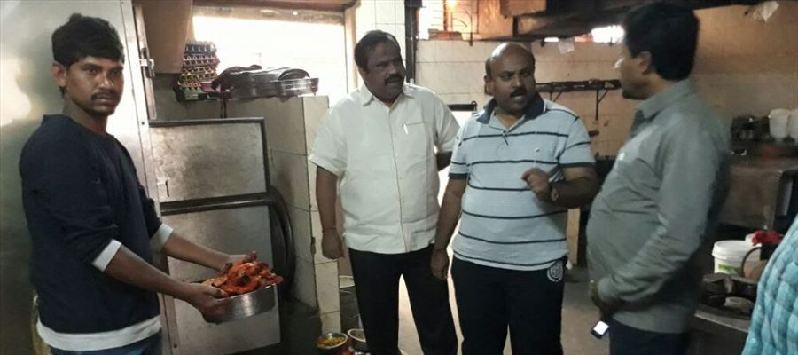 GHMC Officials inspected Hyderabad restaurants, penalized for flouting norms
