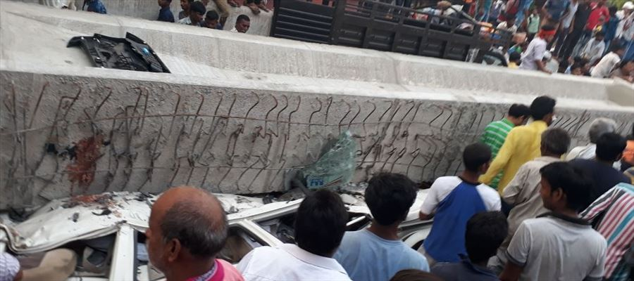 Under construction flyover collapsed in Varanasi killing 12 people