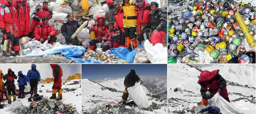Famous Mount becomes World's Highest Rubbish Dump