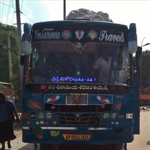 Private Bus plunged into a Pit at NH 65 Highway