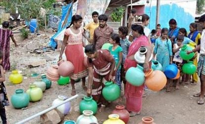 Getting a Pot of water is tough in Chennai