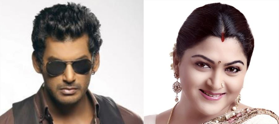 Kushboo comes for Vishal's support!