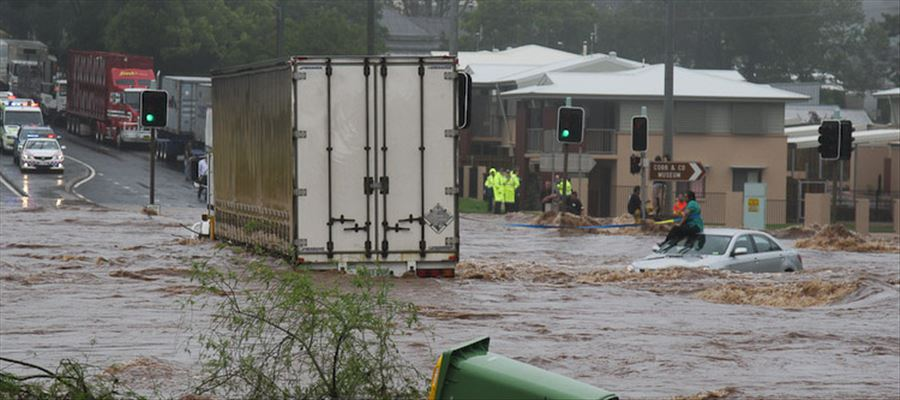 Hundreds of homes in Australia inundated left many Homeless due to Flood