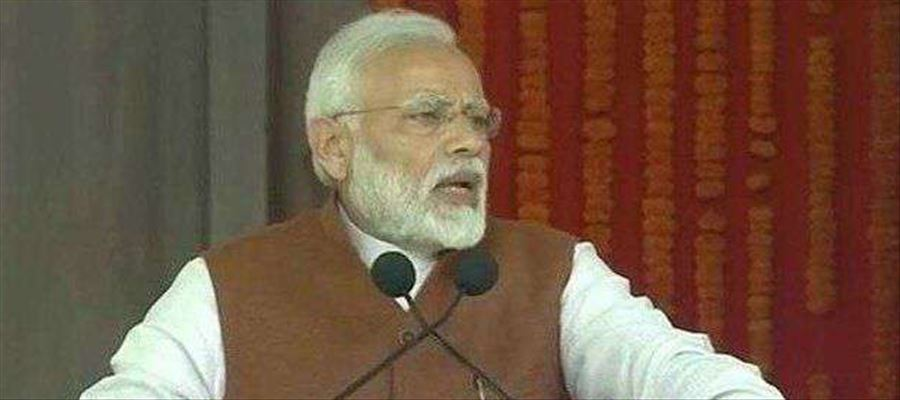 Modi launched Development Projects in AP amid protests