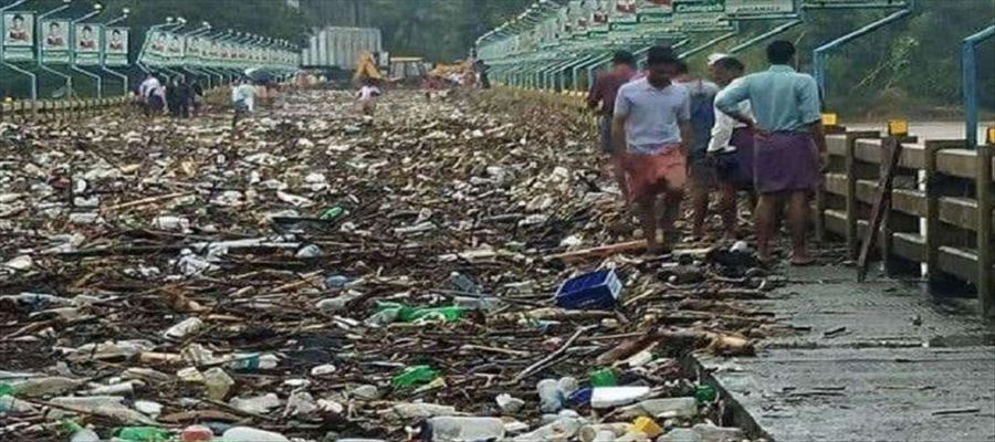 River returned the garbage back to us after Kerala Flood