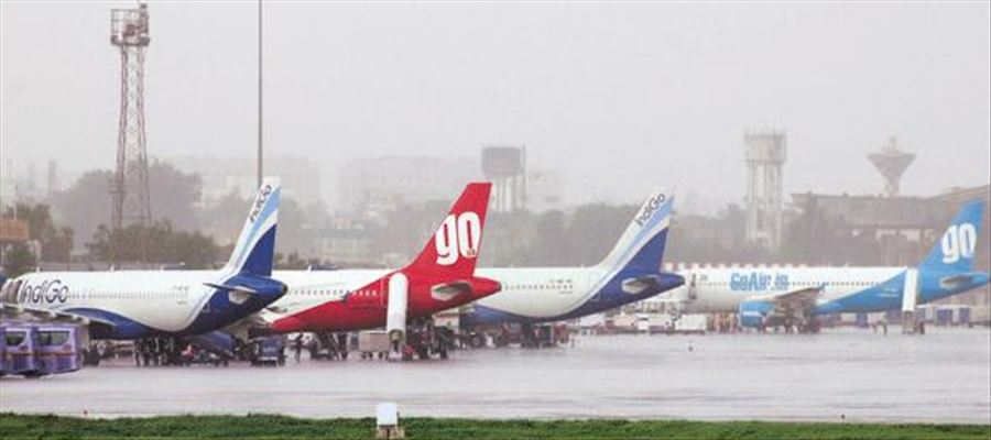 Flight operations disrupted due to Cyclone Phethai in Coastal AP