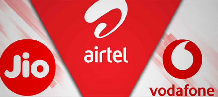 Comparison of Airtel vs Reliance Jio vs Vodafone prepaid recharge plans under Rs. 100