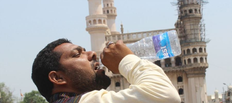 Telangana districts under scorching sun with 44.3 degrees