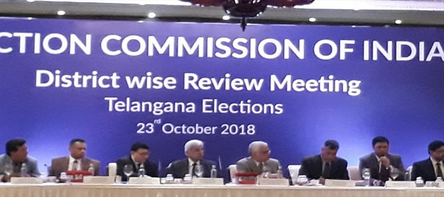 EC reviewing Poll preparedness in Telangana