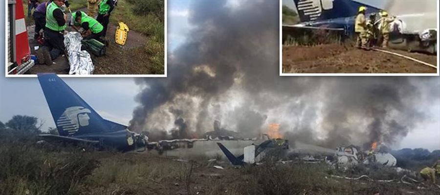 Aeromexico plane crashed minutes after taking off