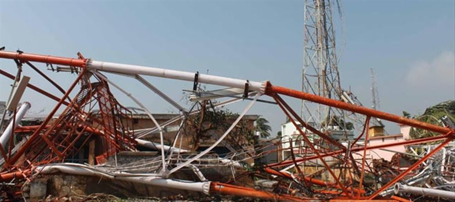 Hectares of Crops & Mobile Towers damaged in AP due to Cyclone Phethai