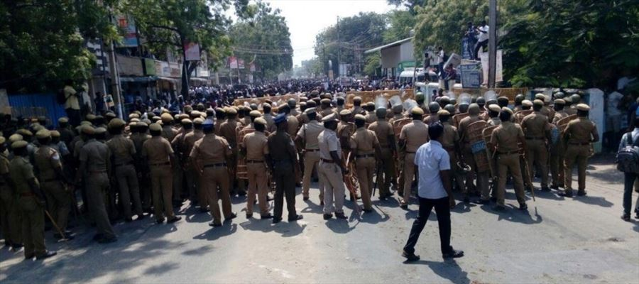 Anti-Sterlite protests in Thoothukudi: Hundreds of residents & social activists taking to streets