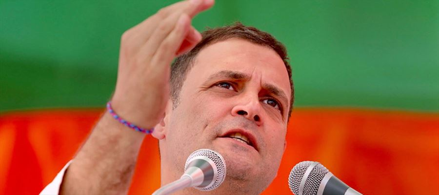"""Rahul Gandhi attacked Modi, alleging he gave """"brooms to the poor"""" under Swachh Bharat Mission"""