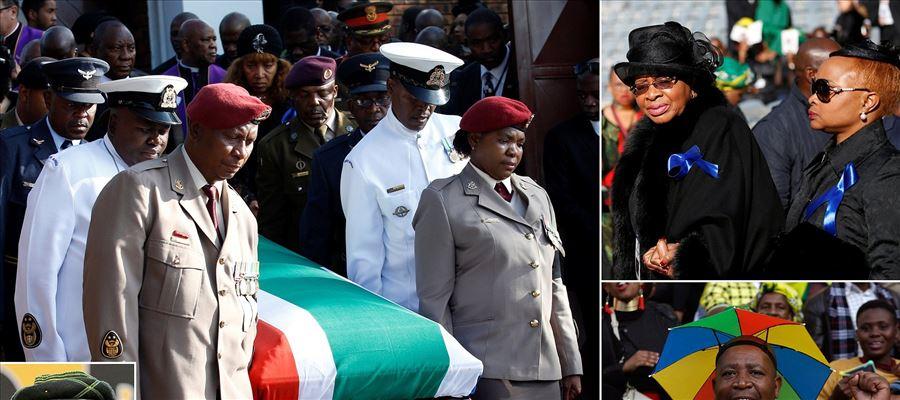 Nelson Mandela's former wife's body left to rest yesterday