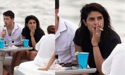 Picture of Priyanka Chopra smoking gone viral
