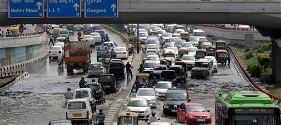 Two hours of heavy downpour brought Hyderabad on to its knees